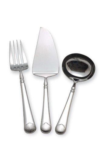 Williamsburg by Reed & Barton Gloucester Shell 3-Piece Serve Set Williamsburg Und Gloucester Shell