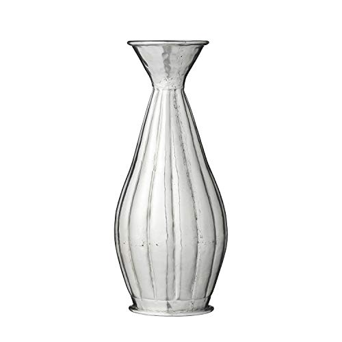 Lene Bjerre Vase Blumenvase Gefäß \'Liana\' Silber 27 x 12 cm Boho Ethno Vintage
