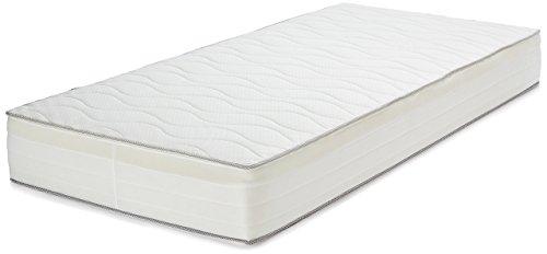 AmazonBasics Colchón extra confort de muelles de 7 zonas, 90 x 200 cm - Soft