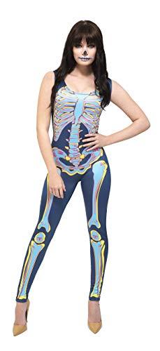 Fever Damen Sexy Skelett Kostüm, Bodysuit, Größe: 40-42, ()