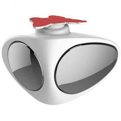 HaiMa Regolabile Ampio Angolo Auto Specchio Convesso Vista Posteriore Monitor-Bianco A Sinistra