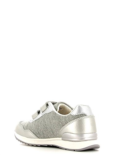 Geox J Maisie Girl C, Baskets Basses fille Gris