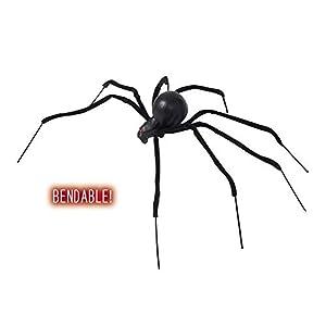 WIDMANN 599386031 - araña Viuda Negra moldeable 90 cm