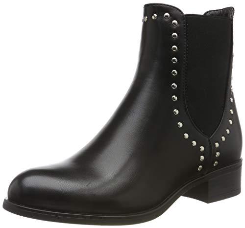 PIECES Damen PSHARPER Boot Stiefeletten, Schwarz (Black AOP: with Studs), 38 EU