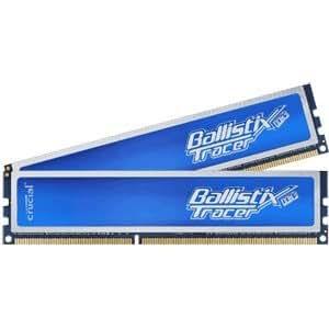 Crucial 2GB kit (1GBx2), Ballistix Tracer 240-pin DIMM (with LEDs), DDR3 PC3-10600 2Go DDR3 1333MHz module de mémoire - modules de mémoire (Ballistix Tracer 240-pin DIMM (with LEDs), DDR3 PC3-10600, 2 Go, 2 x 1 Go, DDR3, 1333 MHz, 240-pin DIMM)