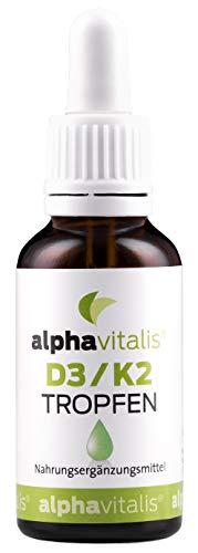 Vitamin D3 + K2 Tropfen hochdosiert & laborgeprüft - 600 Tagesportionen in MCT-Öl - K2 aus MK7 99,7% ALL TRANS optimale Bioverfügbarkeit EINWEG -