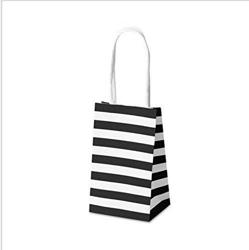 SMHILY 50 stücke Mini kraftpapiertüte Kleines Geschenk Paket Tasche mit Griff Partei schmuck verpackung Tasche Multifunktions Geschenk Tasche 7,5x12x5 cm