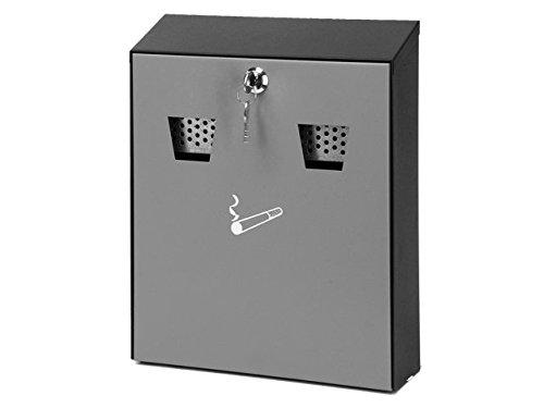 Wandaschenbecher mit Fronttür schwarz/grau