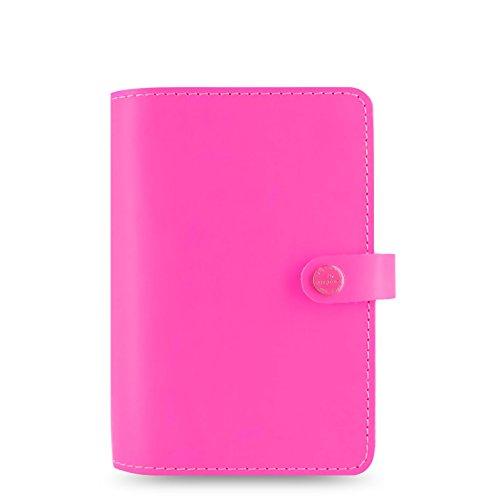 Filofax Personal Original Leder Organizer, fluoreszierendes Pink
