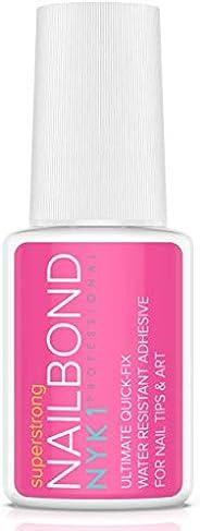 NYK1 Nail Bond Colla per Unghie Finte Super Forte, Adesivo per Tip - Qualità Professionale da Salone di Bellezza - Perfetta