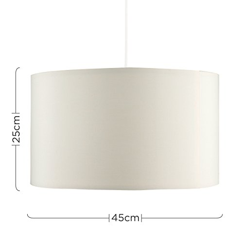 Extra Large Modern Cream Polycotton Cylinder Ceiling Pendant/Table/Floor Lamp Drum Light Shade