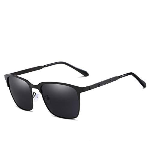 ZRTYJ Sonnenbrille Neueste Business-Stil Polarisierte Sonnenbrille Männer Fahrerbrille Rechteck Reflektierende Verspiegelte Polarisierende Gläser