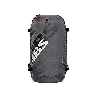 ABS Unisex - Adult Avalanche Backpack Zip-On 15 Pack Bag for P.Ride Compact and S.Light Base Unit, 15L Volume, Security Equipment Compartment Ski and Snowboard Holder, Helmet Net, Rock Grey