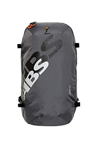 ABS Unisex- Erwachsene Lawinenrucksack Zip-On 15, Packsack für P.Ride Compact und S.Light Base Unit, 15L Volumen, Fach für Sicherheitsausrüstung, Ski-und Snowboardhalterung, Helmnetz, Rock Grey