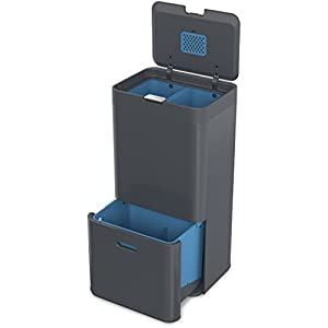 Joseph Joseph Intelligent Waste Totem Recycling Separation Unit, 58 L - Graphite
