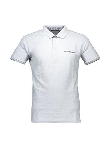 Polo Shirt Herren Cesare Paciotti Shirt Men Short Sleeves cp12ps # 1 Hellgrau