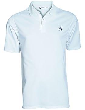 Royal & Awesome Men's Polo - Camiseta polo para hombre, color blanco, talla S