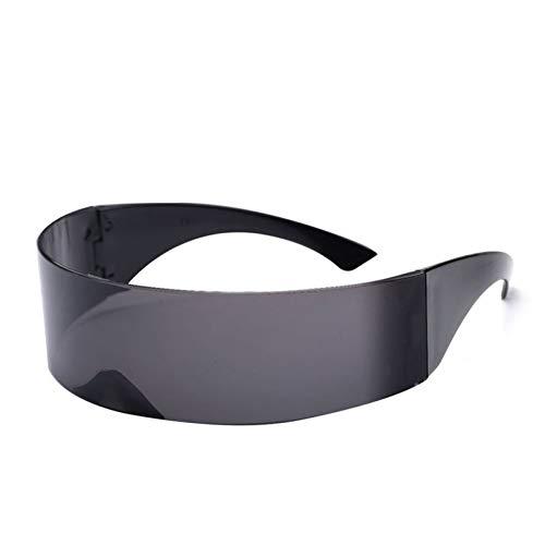 YOGER Sonnenbrillen Lustige Übergroße Wrap Gläser Männer Frauen Gläser Halloween Rave Festival Dekoration Kostüm Maske Neuheit Eyewear (Rote Gläser Kostüm Halloween)