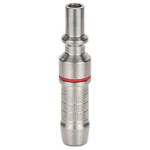Gas-trennen (IBEDA Kupplungsstift D2 aus Edelstahl mit Anschluss-Tülle für DKD, DKG und DKT Schlauchkupplungen für Brenngase, Sauerstoff und Inerte Gase, Ausführung:Inertes Gas 6.3 mm Tüllen)