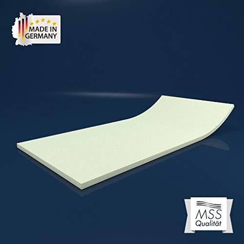 MSS® Schaumstoffplatte Polster Auflage Topper - 80 x 200 cm - 5 cm - RG27/45 -