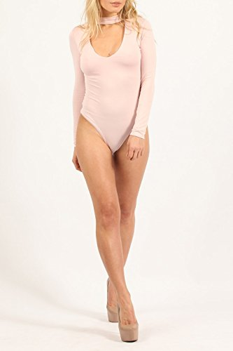 Ladies V-Cut Bodysuit EUR Taille 36-42 Bébé rose