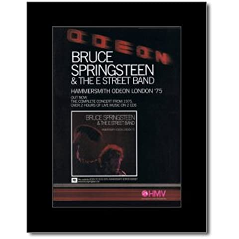 BRUCE SPRINGSTEEN - Hammersmith Odeon 1975 - 28,5 x 21 cm minipóster enmarañado