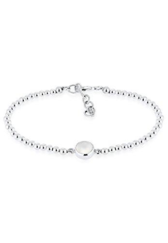 Elli Damen-Armband 925 Silber Mondstein weiß Rundschliff 16 cm - 0211511616_16