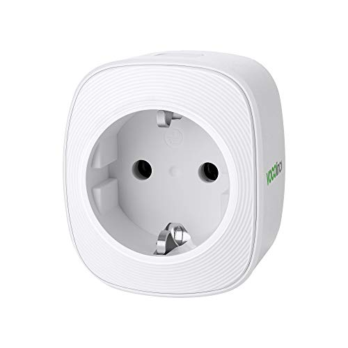 VOCOlinc Smart Spina Presa Intelligente WiFi Plug Compatibile con HomeKit (iOS12 o +) Alexa e Google Assistant Timer Monitoraggio energetico Nessun hub richiesto 10A 2300W 2.4GHz (1 Pack)