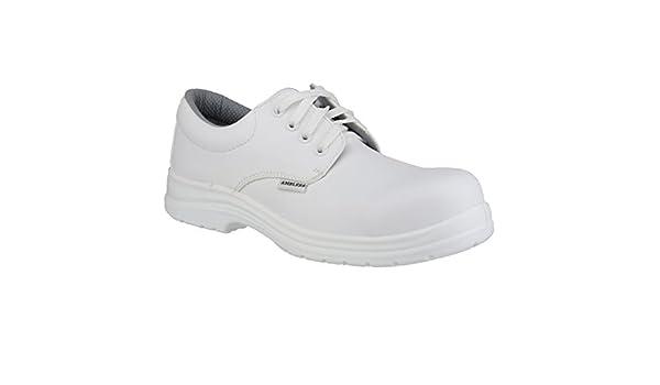 Amblers fs511 scarpe antinfortunistiche bianche unisex: amazon