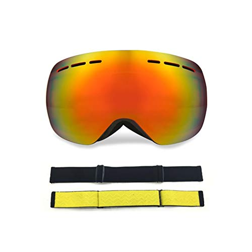 DOLOVE Skibrille Herren Damen Sportbrille Polarisiert Schutzbrille Brillenträger Herren und Damen Schwarz Rot