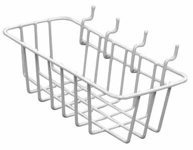 Crawford Peggable Wire Basket 3.5 L X 8W X 2.5 H To 5 Lb Vinyl Coated by Crawford-Lehigh Group -