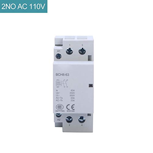Rubyu Haushalt AC Schütz, Installationsschütz, Electronic Multifunktions-Zeitrelais, 24V/110V/230V Coil Spannung 35 mm DIN Rail Mount -