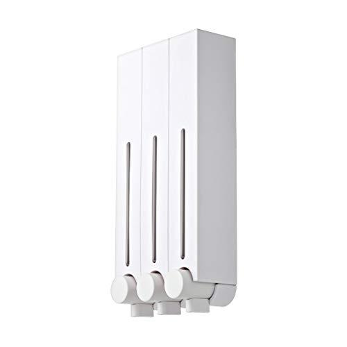 Zunruishop-Countertop Soap Dispensers Punch-Free Hotel Badezimmer Handbedienter Wand-Seifenspender 250ml / 500ml 500ml-3PACK weiß