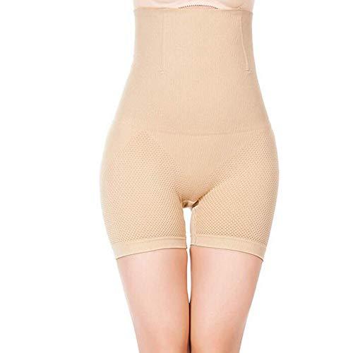 Damen Figurenformend Miederpants Miederhose Body Shape Bauch Kontrolle Unterwäsche Push-Up Po Und Butt Lifter Miederslip Höschen,Beige,XL/XXL - 3