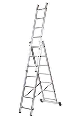 Kormax Escalera Aluminio Industrial Triple 7 Peldaños