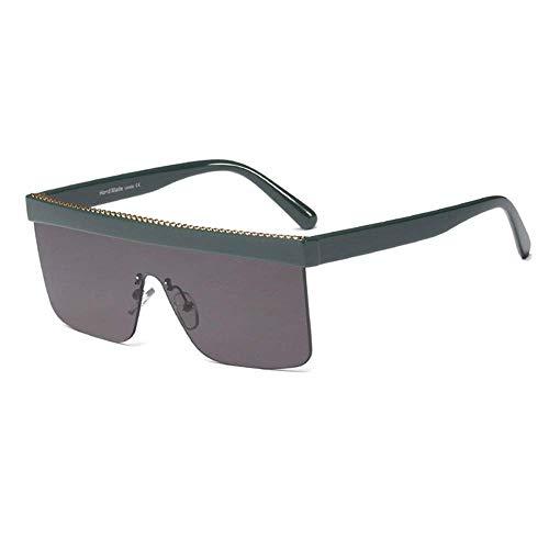 ZXL Sonnenbrille Quadrat randlose Sonnenbrille mit großem Gestell