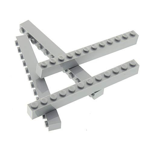 4 x Lego System Bau Stein hell grau 1x12 Basis Steine Basic Brick Set Star Wars 76038 8813 7261 7144 7965 7783 7663 10187 4211522 6112