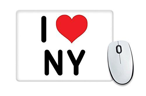 I Love NY-Tappetino per il Mouse, a forma di cuore, Idea regalo, motivo natalizio