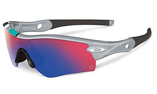 Oakley Unisex Radar Path Asian Fit Sunglasses, Polished Fog/+ Red Irid, One Size