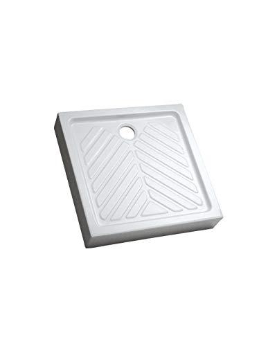 ALLIA Receveur Prima c/éramique 90x90 ultra-plat /à poser /à encastrer avec traitement antigliss /émaill/é 4 c/ôt/és traitement antigliss pn18 de s/érie p
