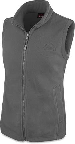 normani 280g Fleeceweste für Damen - Winddicht, leicht, warm, elegant Farbe Grau Größe S -