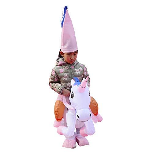 Belingeya-toy Disfraz de Disfraces inflables Niños Adultos Unicornio Inflable Princesa Disfraces de Halloween Fiesta de Disfraces Cosplay para Fiesta de Disfraces de Halloween Cosplay