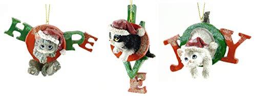 Gerson Hunde- und Katzenfigur, festlich, 3 Stück Kitty Cats