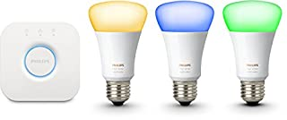 Philips Hue Kit de Démarrage White And Color Ambiance avec 3 X E27 10 W [Pont Inclus], Un Kit de Lampes Connectées - Ampoules à Variation de Couleurs - Fonctionne avec Alexa (B01LZ8QYPI) | Amazon price tracker / tracking, Amazon price history charts, Amazon price watches, Amazon price drop alerts