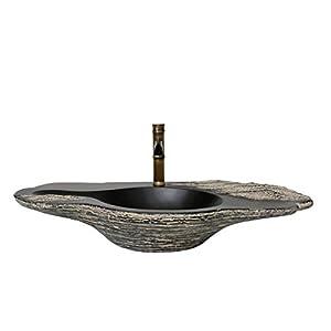Arte chino lavabo de piedra de gran tamaño creativo encimera lavabo del baño lavabo del fregadero recipiente Lavabos