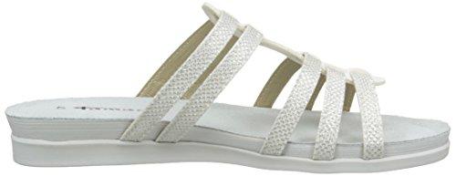 Tamaris 27111, Mules Femme Blanc (white/silver 191)