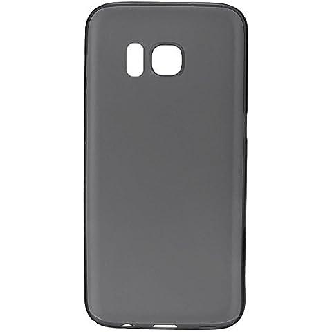 wanit UltraSlim Cover 0,3mm Custodia per Samsung Galaxy S7 Protettiva Copertura Posteriore Completo Ultra Sottile Opaca TPU Policarbon Paraurti Glassato Clear (Nero)