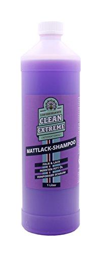CLEANEXTREME Mattlack Autoshampoo Konzentrat 1 Liter - Shampoo zum Reinigen von Mattlack (Autolack matt), Mattfolie und matter Autosprühfolie. Auto Reiniger mit Pflege