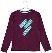 Kiabi Boys Eco-Design Printed T-Shirt, Purple