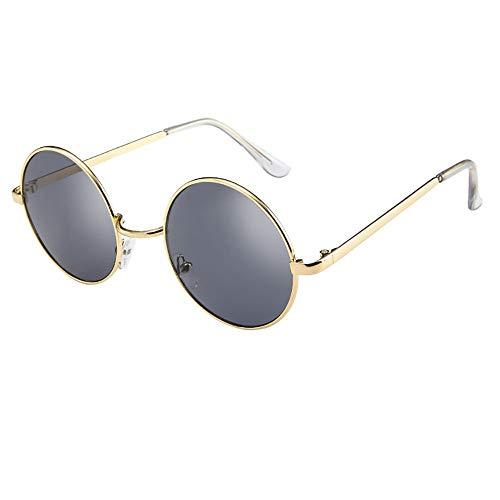 FIRSS Sonnenbrille Metall Frame Sunglasses Vintage Nerdbrille Katzenauge Brillenfassung Extra...